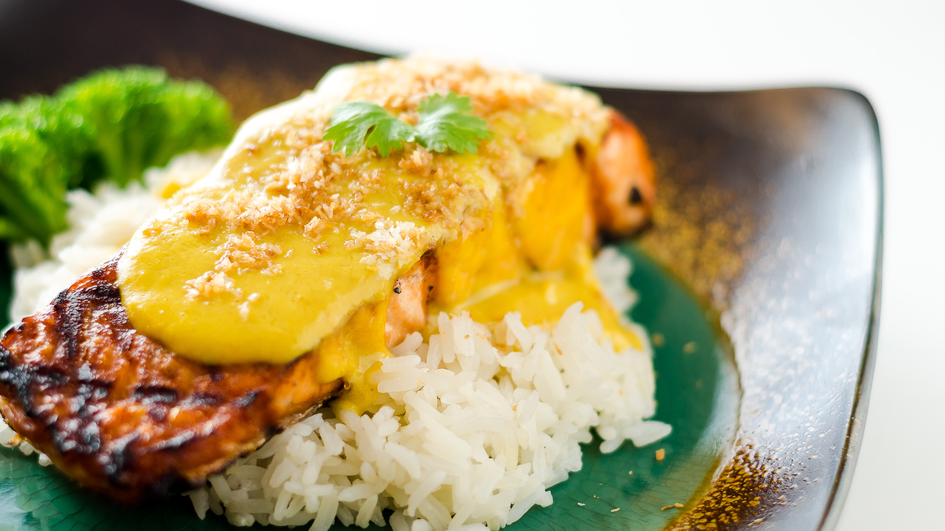 Salmon with Tropical Curry Sauce