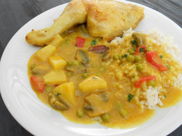 Curry Spiced  Chicken  Leg Quaters